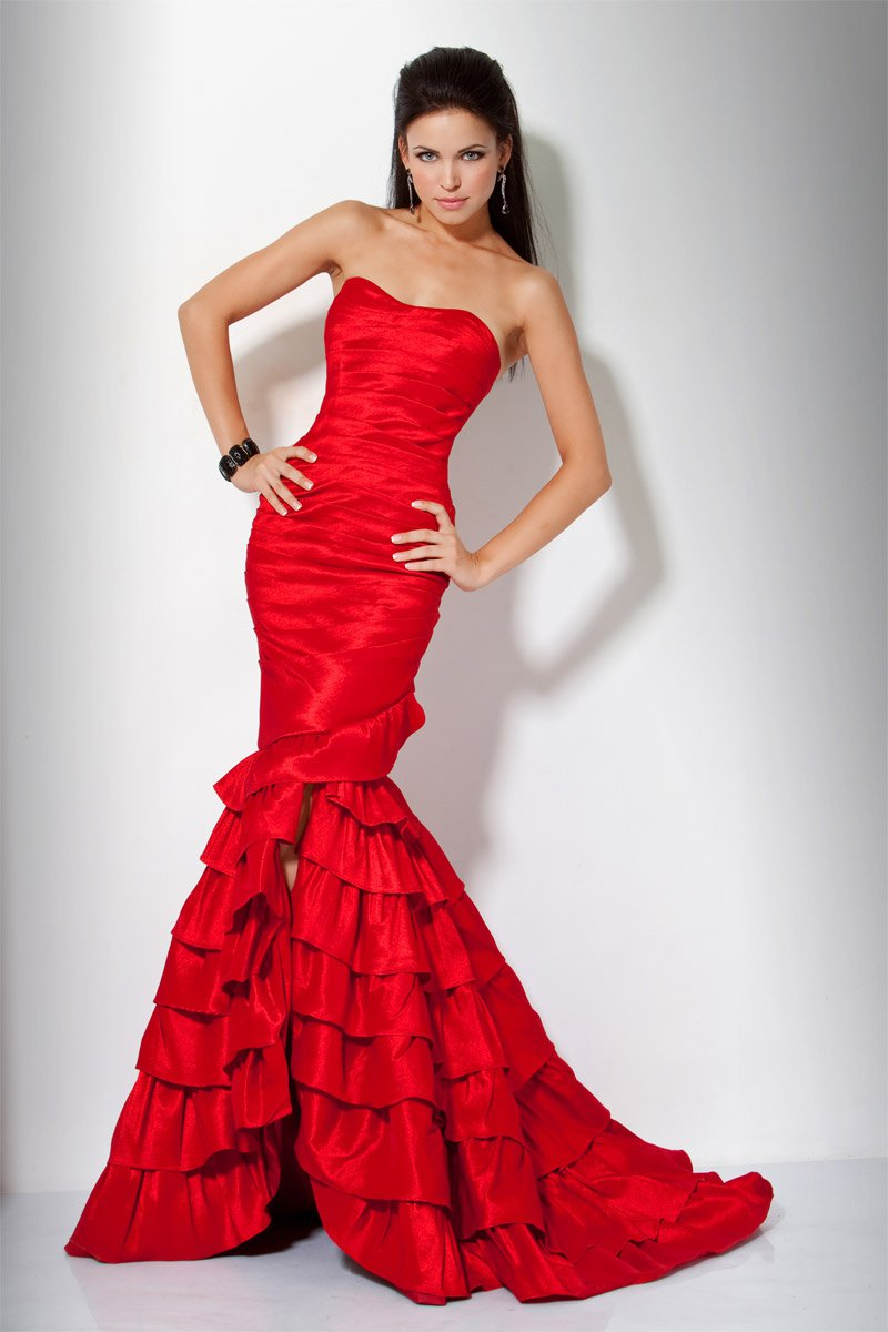 8310(J) suknia balowa - czerwone