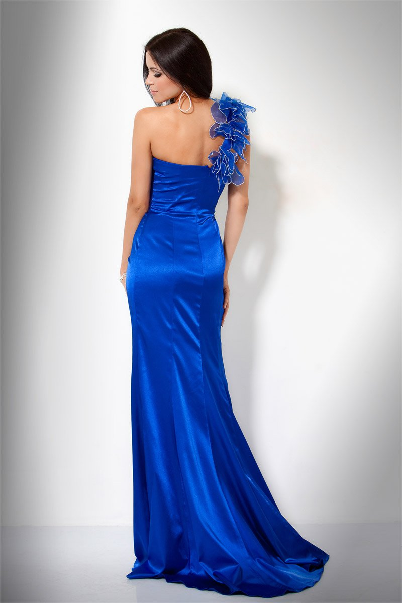 17485(J) suknia balowa - Niebieskie/granatowe