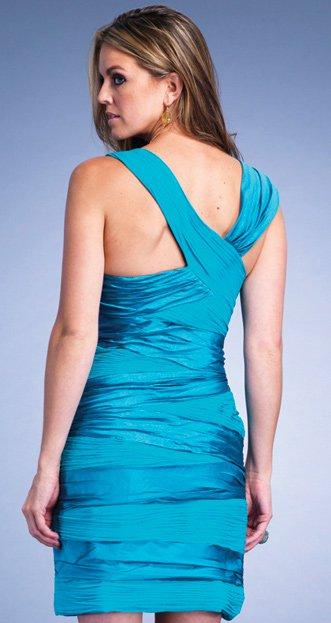 6424 sukienka - Niebieskie/granatowe