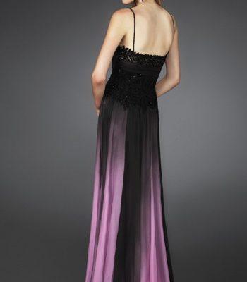 Czarno-różowa suknia wieczorowa 14043LF