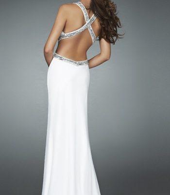 Długa, biała suknia wieczorowa 14606LF