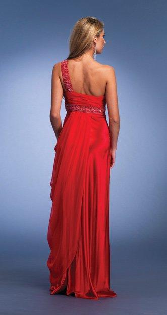 6451 sukienka - czerwone