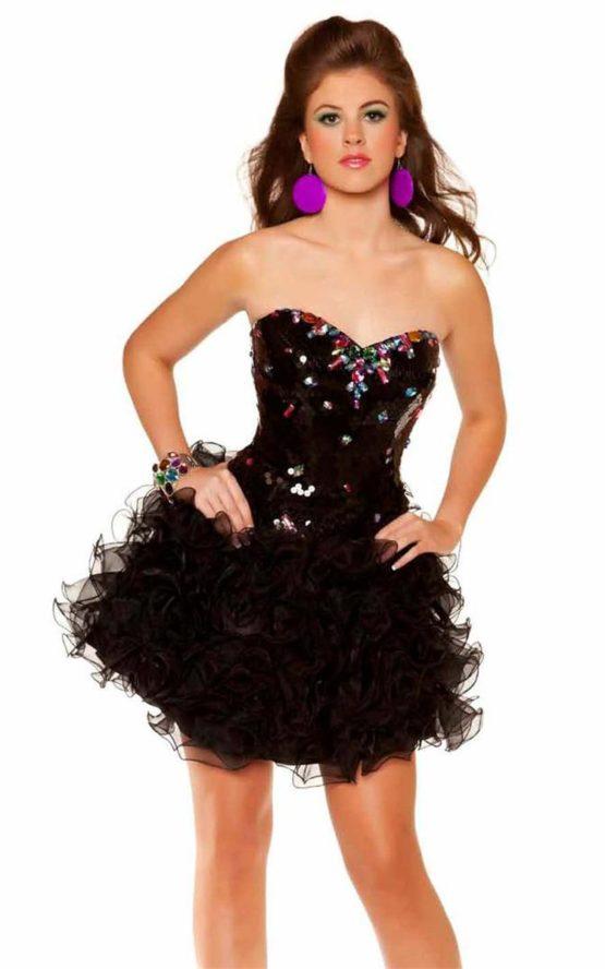 Krótka, czarna sukienka 6453