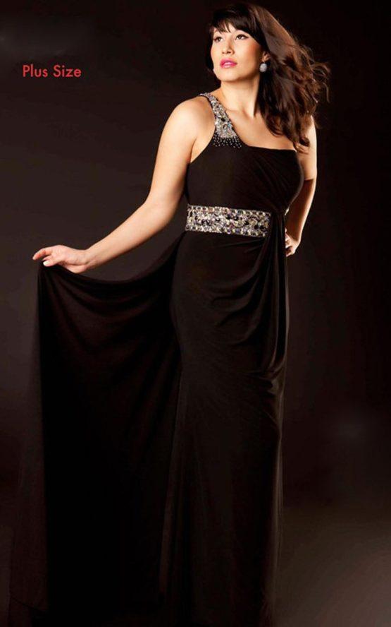 Czarna suknia balowa 75910