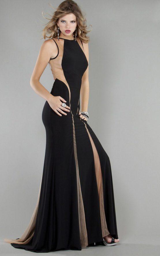 Czarno-cielista suknia balowa 762J