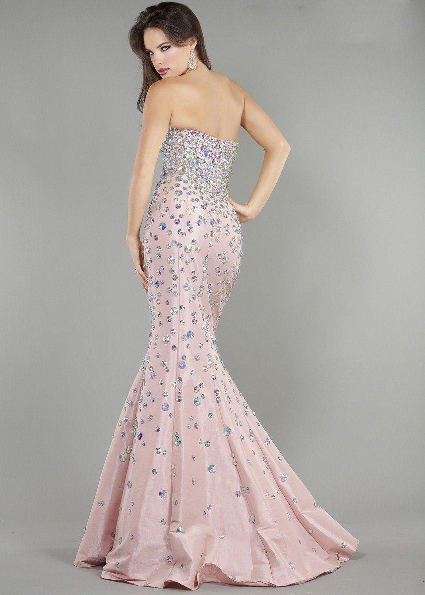 944J suknia wieczorowa - Szare/srebrne