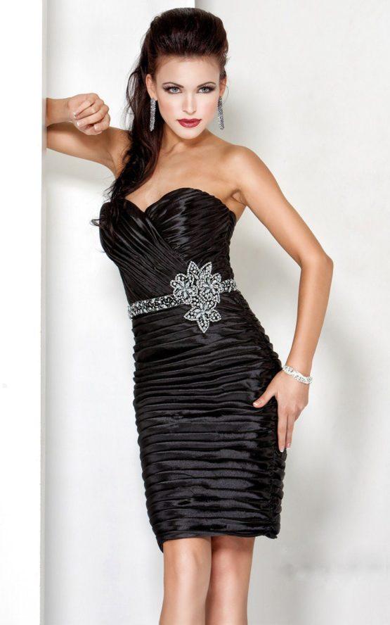 Czarna sukienka wieczorowa 5583J