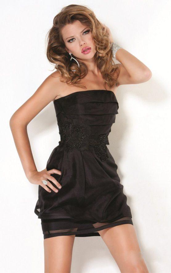 Krótka, czarna sukienka 5606J