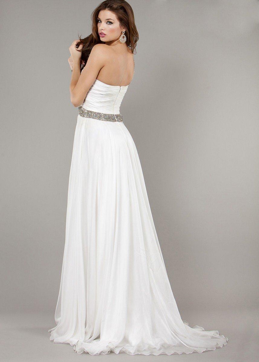 6919J suknia balowa - białe/beżowe