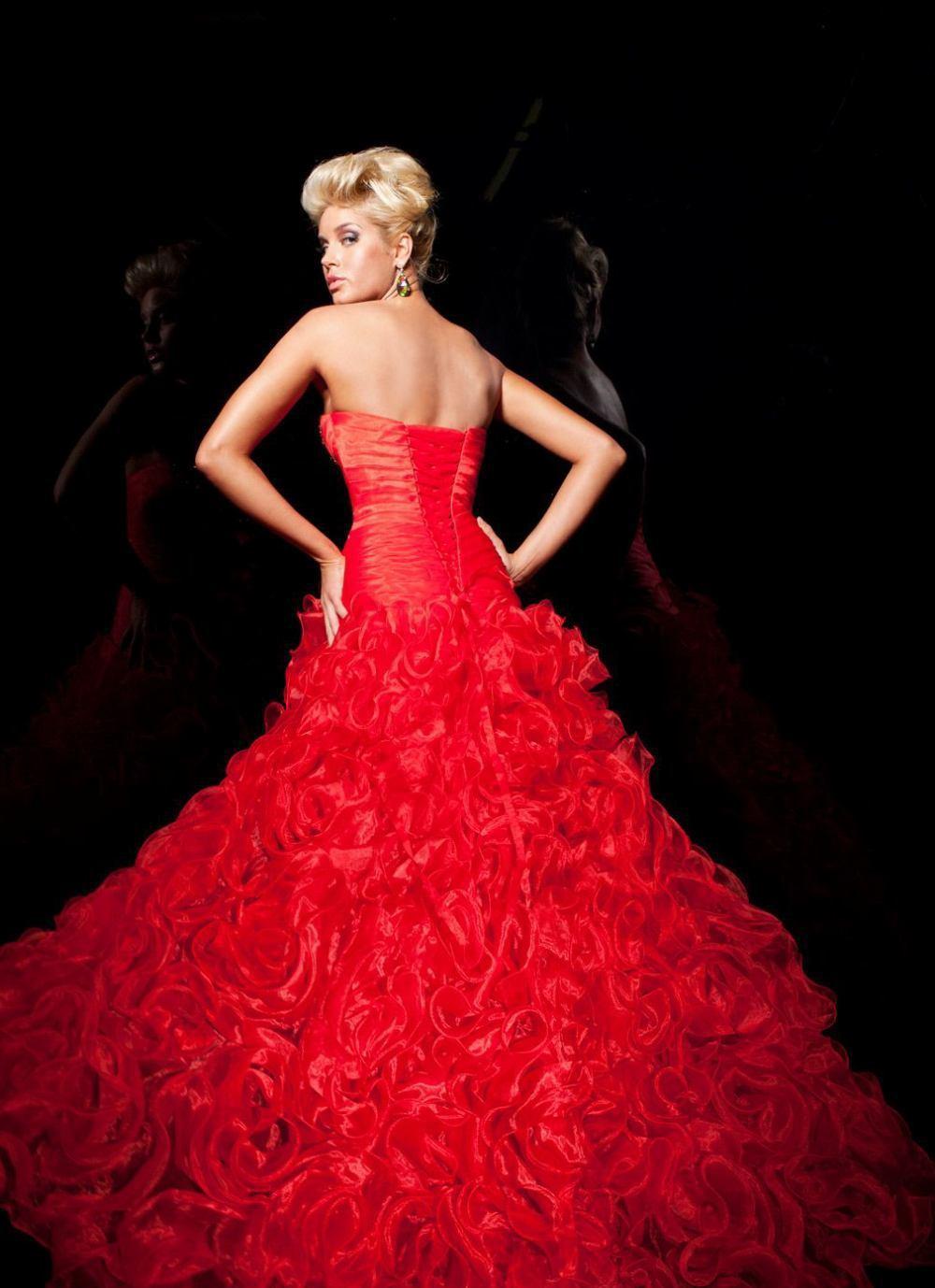 113717 suknia balowa - czerwone