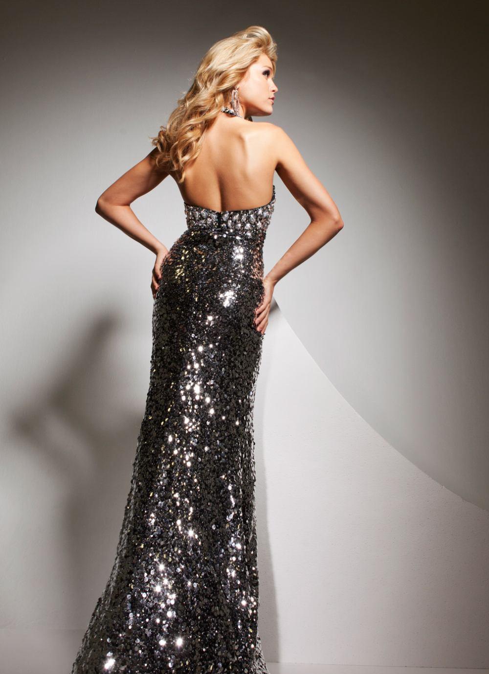 Srebrna suknia wieczorowa 2351328 - Suknie wieczorowe