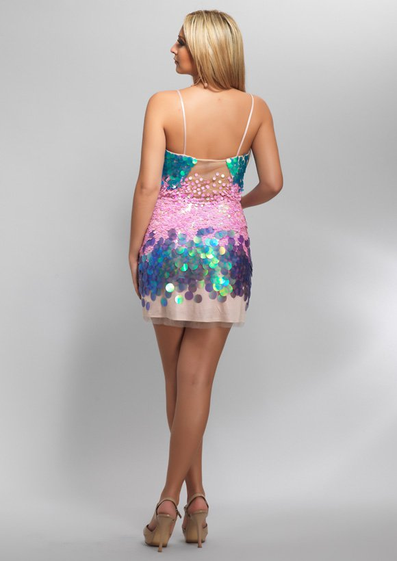 8024 suknia koktajlowa - Suknie wieczorowe