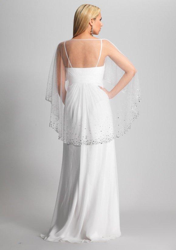 8176 suknia wieczorowa - Białe/beżowe