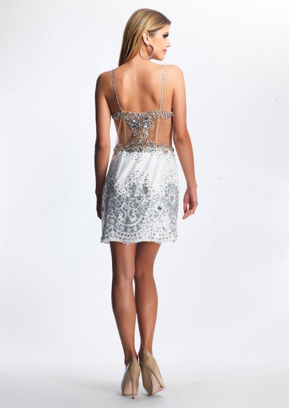 8277 suknia wieczorowa - białe/beżowe