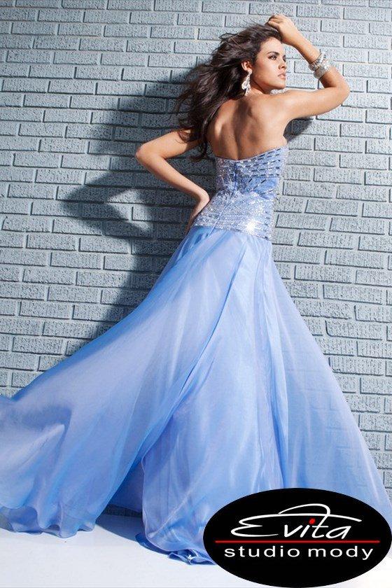 113545 suknia wieczorowa - Niebieskie/granatowe