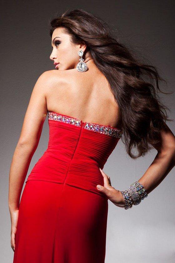 2351336 suknia wieczorowa - czerwone