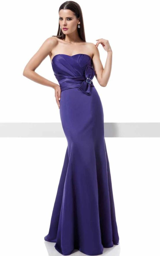 1200823 fioletowa suknia wieczorowa z kokardą