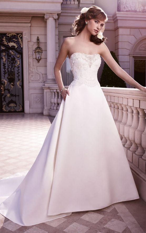 2130 satynowa suknia ślubna