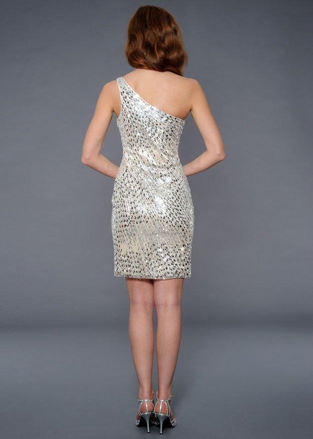21634 suknia wieczorowa - Białe/beżowe