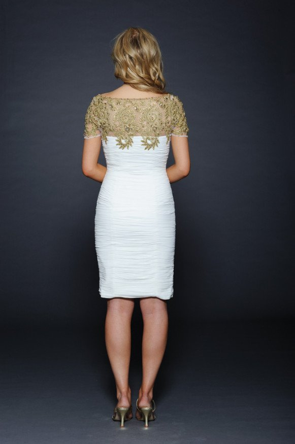 32001 suknia wieczorowa - Białe/beżowe