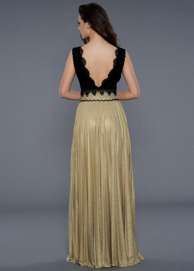 73b45f598d Czarno-złota suknia wieczorowa 32225 - Evita