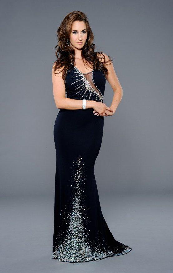 Posrebrzana suknia wieczorowa 32238