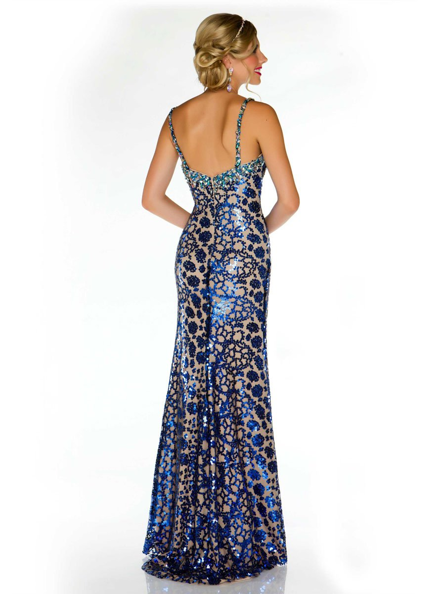 81812md suknia wieczorowa - Szare/srebrne