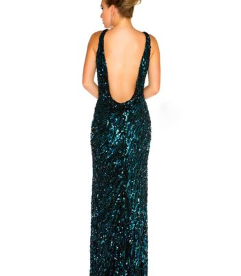 Połyskująca suknia wieczorowa 3840