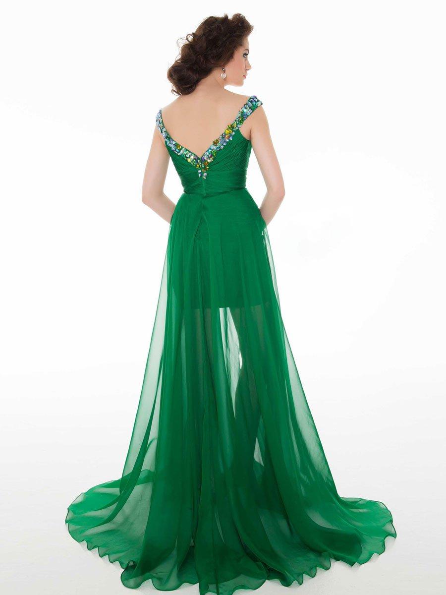 Krótko-długa suknia wieczorowa 64545 - Suknie wieczorowe