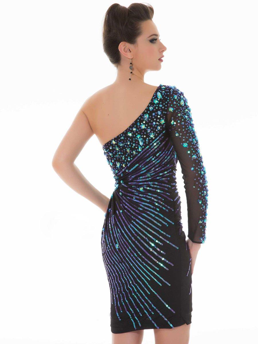 Krótka sukienka z rękawem 85240 -