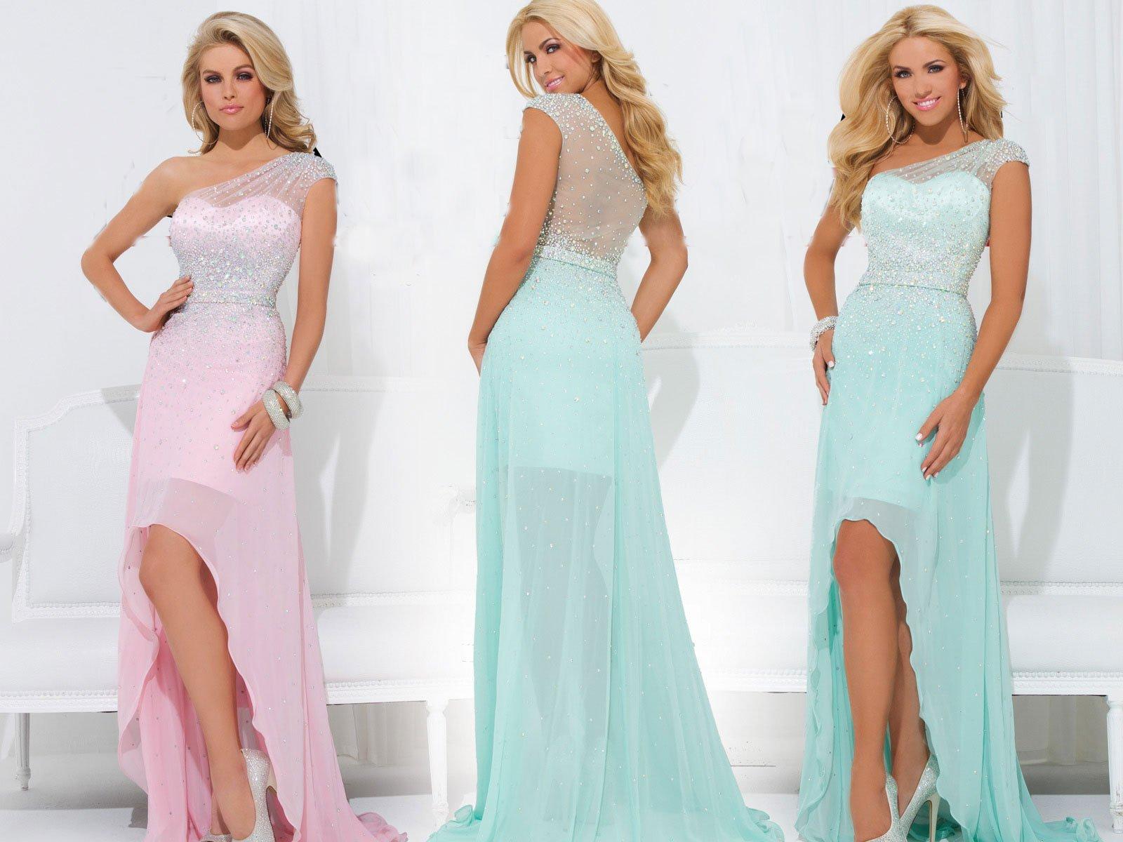 114502TB suknia wieczorowa - Niebieskie/granatowe