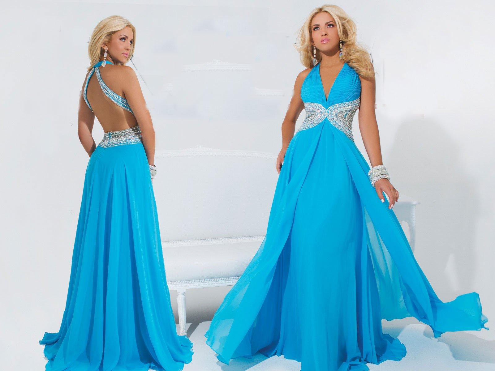 114716TB suknia wieczorowa - Niebieskie/granatowe
