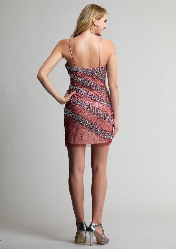 9118 sukienka krótka - Suknie wieczorowe