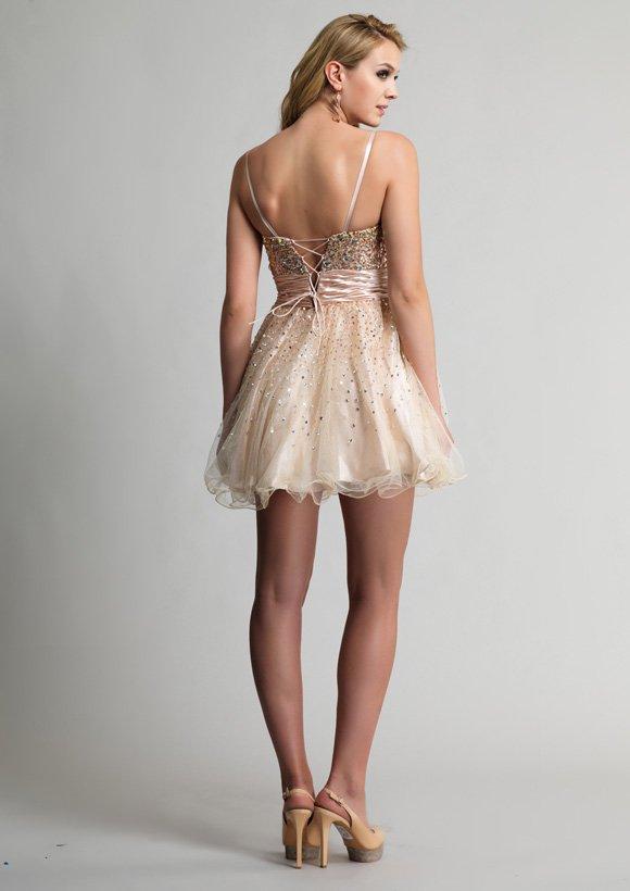 9206 sukienka krótka - Suknie wieczorowe
