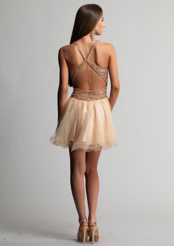 9244 sukienka krótka - Suknie wieczorowe