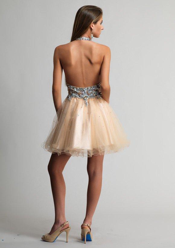 9376 sukienka krótka - Szare/srebrne