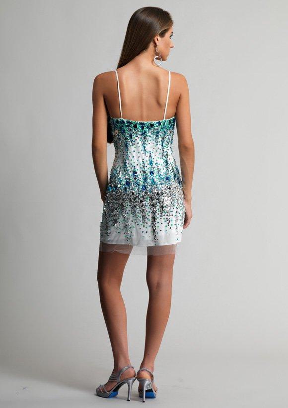9492 sukienka krótka - Suknie wieczorowe