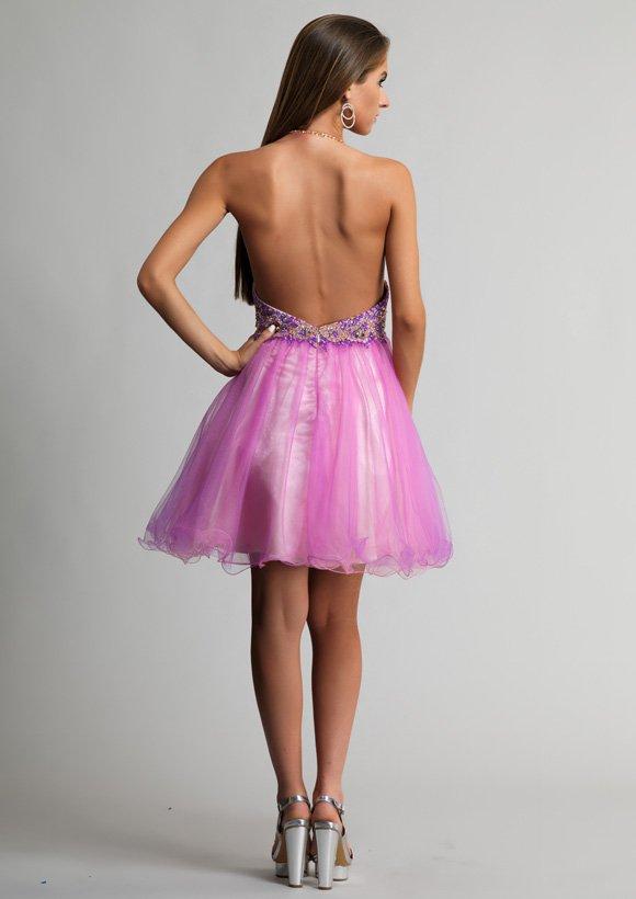 9663 sukienka krótka - Suknie wieczorowe