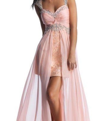10016 sukienka krótko-długa
