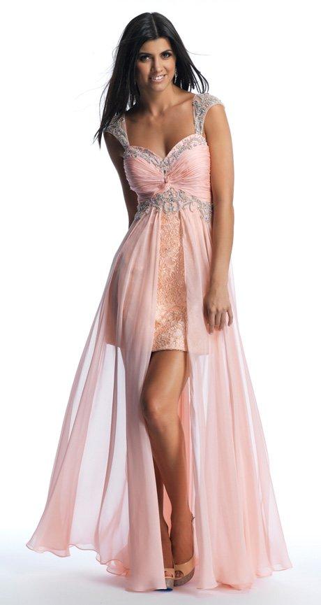 10016 sukienka krótko długa Evita