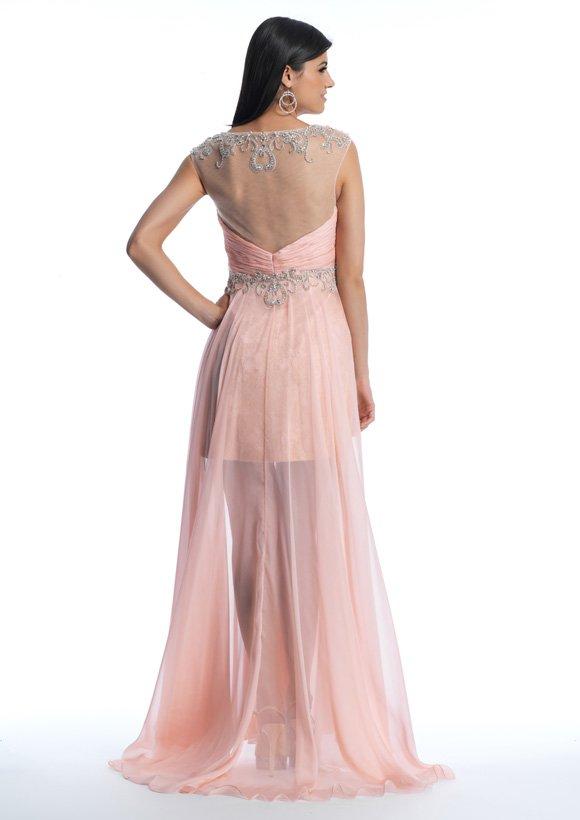 10016 sukienka krótko-długa - Suknie wieczorowe
