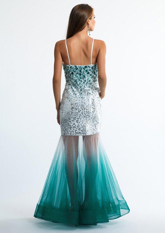 10036 sukienka krótko-długa - Suknie wieczorowe