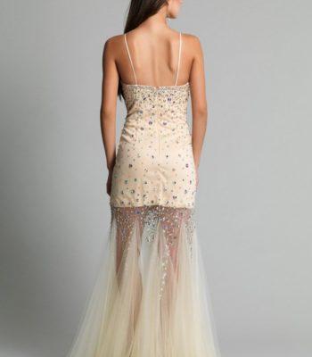 9172 sukienka krótko-długa