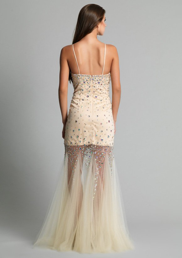 9172 sukienka krótko-długa - Suknie wieczorowe
