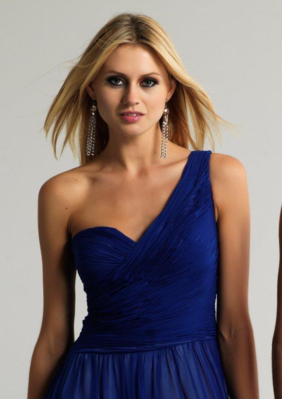 8691 suknia wieczorowa - Niebieskie/granatowe