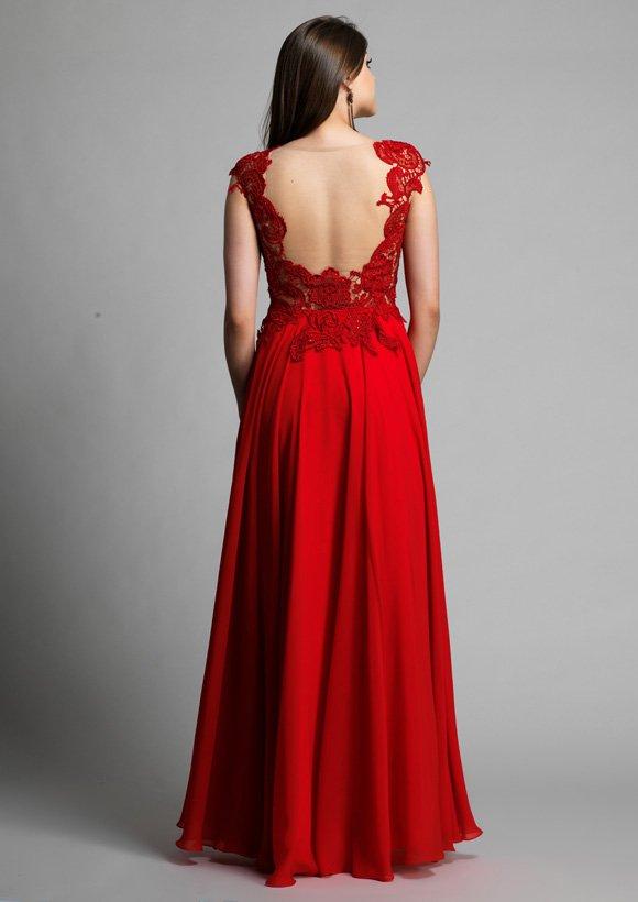 9576 suknia wieczorowa - czerwone