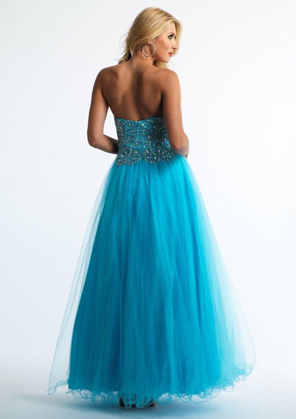 9962 suknia wieczorowa - Niebieskie/granatowe
