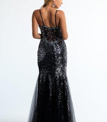 Posrebrzana suknia wieczorowa 10030