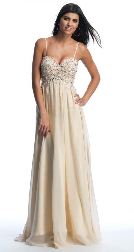 Beżowa suknia wieczorowa 10228
