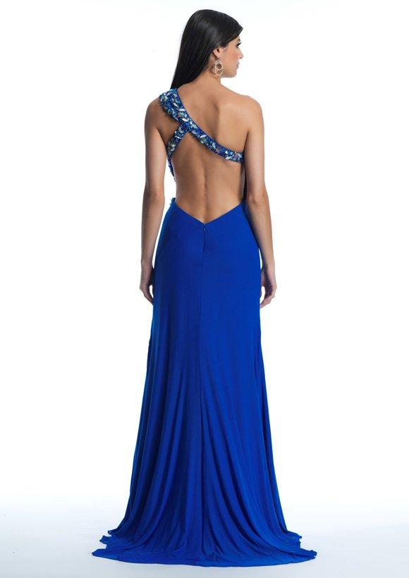 10396 suknia wieczorowa - Niebieskie/granatowe